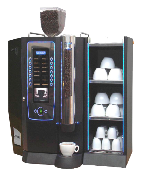 Darenth Bean To Cup with coin mech - cup warmer