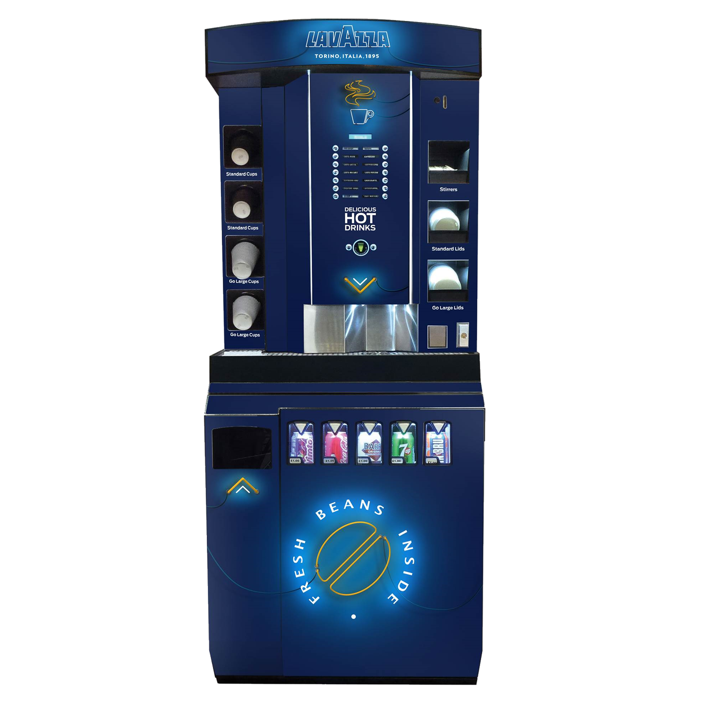 LavazzaBeans and Cold drink dispense Tower